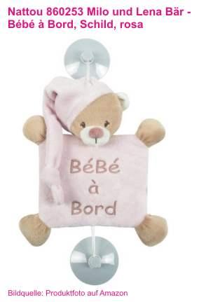 Baby an Bord Teddy rosa