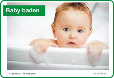 Baby baden in Wanne