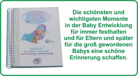 Entwicklung Baby mit Erinnerung im Babybuch