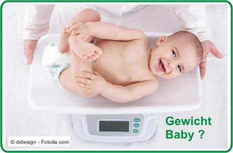 Gewicht Baby wiegen