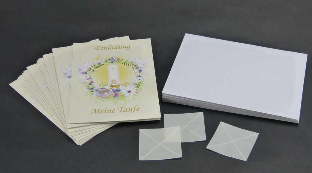 Taufeinladung Text mit Kartenset