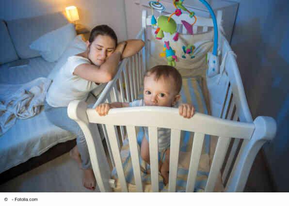 Baby will nicht schlafen - Mama schon