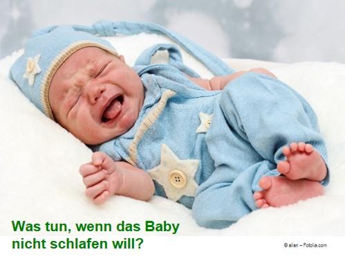 Baby will nicht schlafen