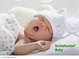 Schlafrhythmus Baby - Schlafbedarf Baby
